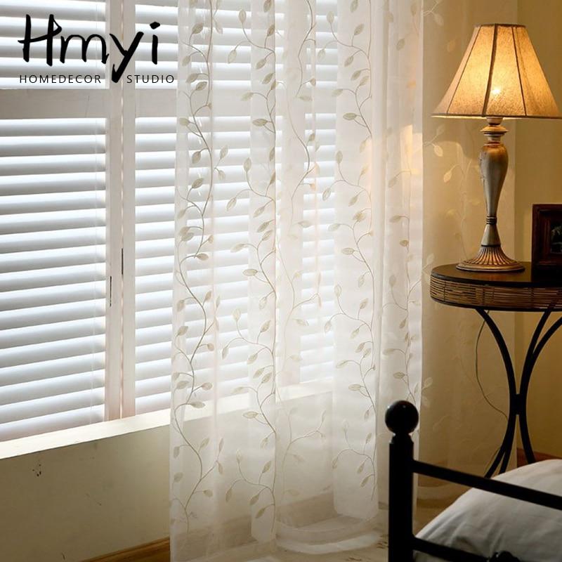 Moderno de tul cortinas para sala de estar cortinas para dormitorio de gasa blanco decoración para cortinas de ventana tratamiento cortinas