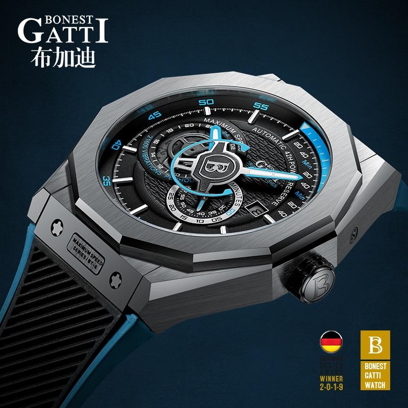 2021 Automatic Mechanical Watch Men Top Brand Sapphire Luminous Hands Mens 50M Waterproof Sports Wri