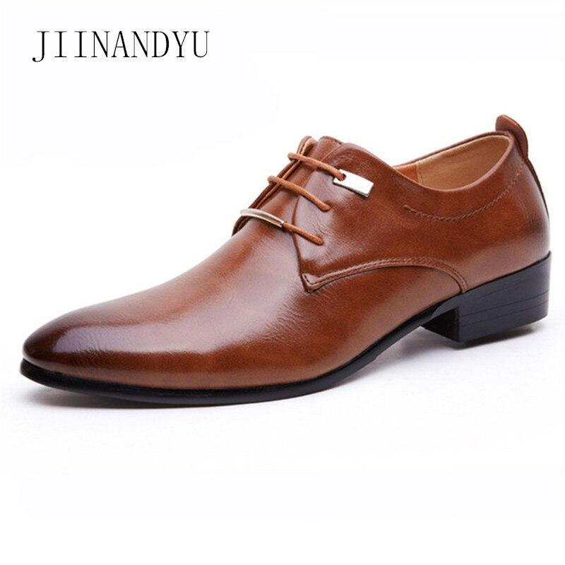 Sapatos de Couro Sapatos de Festa dos Homens Sapatos de Escritório Tamanho Homens Pontiagudos Marca Elegante Conforto Masculino Sapatos Masculinos Apartamentos Formais 38-48