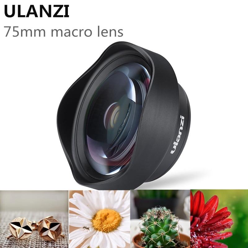 Ulanzi-عدسة كاميرا الهاتف ، 75 مللي متر 10X Super Macro ، عدسة 17 مللي متر HD لهاتف iPhone Piexl Huawei One Plus Xiaomi