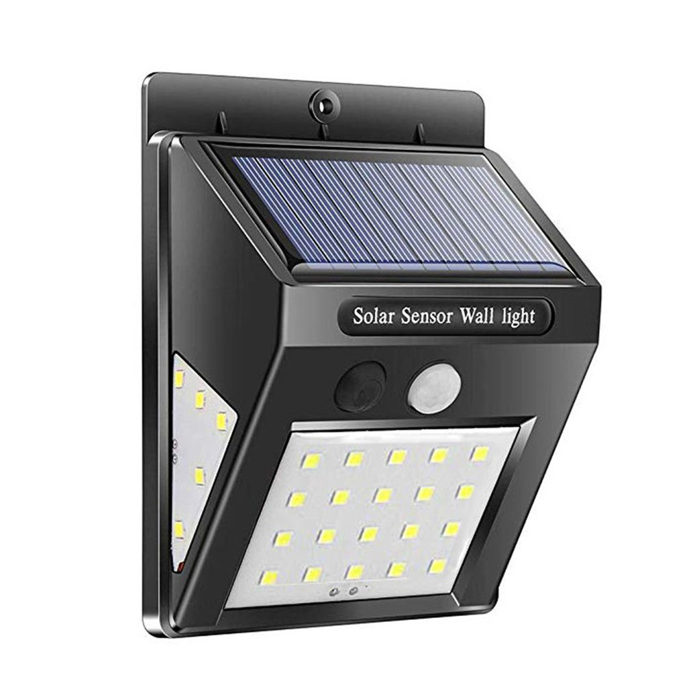 20/25/30/48 Luces Solares LED sensor de movimiento al aire libre lámparas de pared impermeable luz de emergencia para jardín puerta delantera garaje Fen