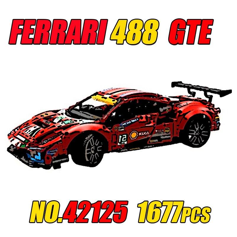 スーパースポーツカービルディングブロックレンガビルディングブロック子供のおもちゃ誕生日プレゼントmocテクニカルシリーズ42125-gte