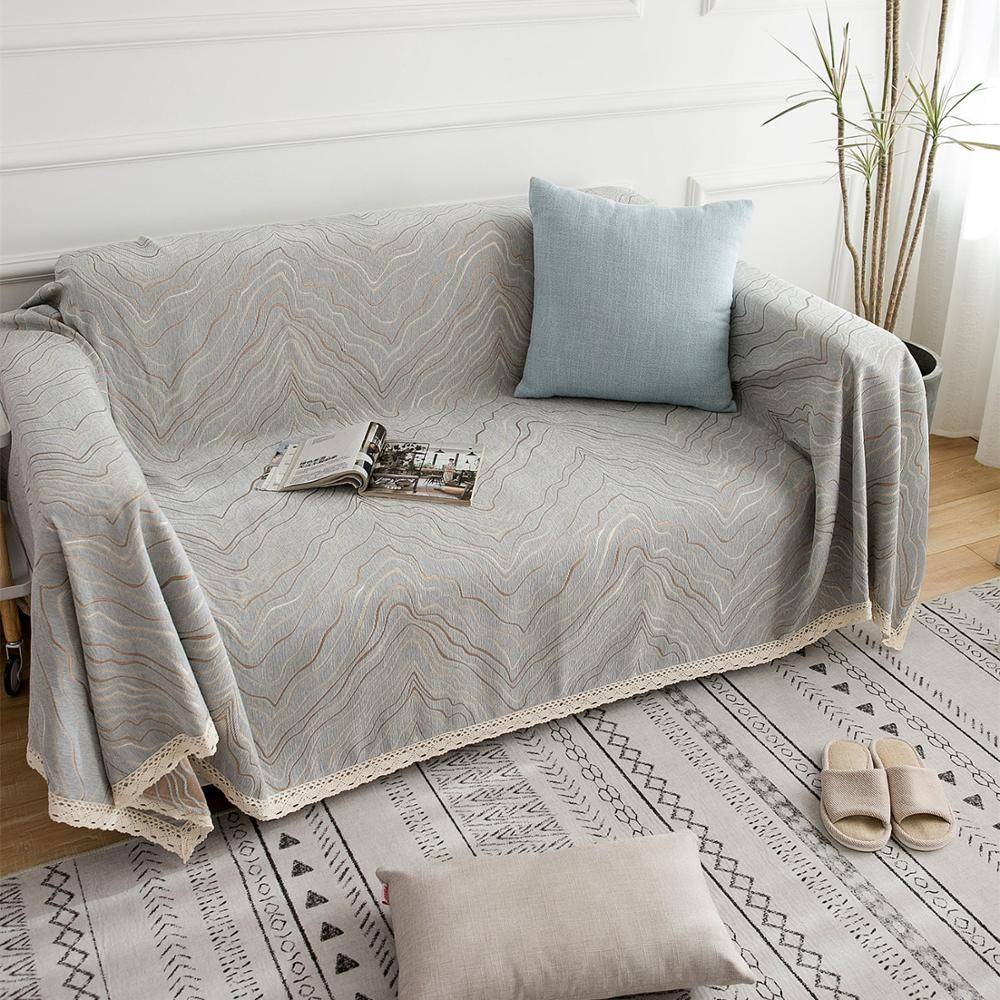Cobertura de sofá para sala de estar engrosada Chenille cubierta completa Funda de sofá Throw Blanket Home Decor Four Seasons Universal