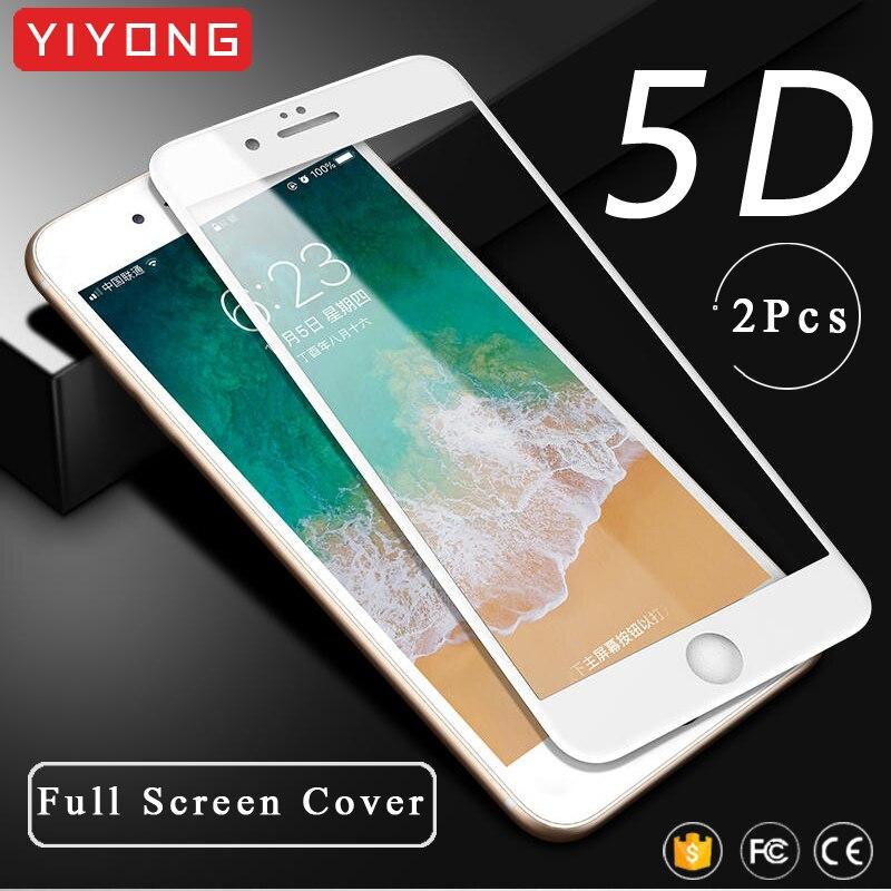 YIYONG 5D cubierta completa para iPhone 6 6s 7 7 8 Plus de vidrio templado para iPhone SE de 2020 Protector de pantalla para iPhone x s x xr xs Max de vidrio