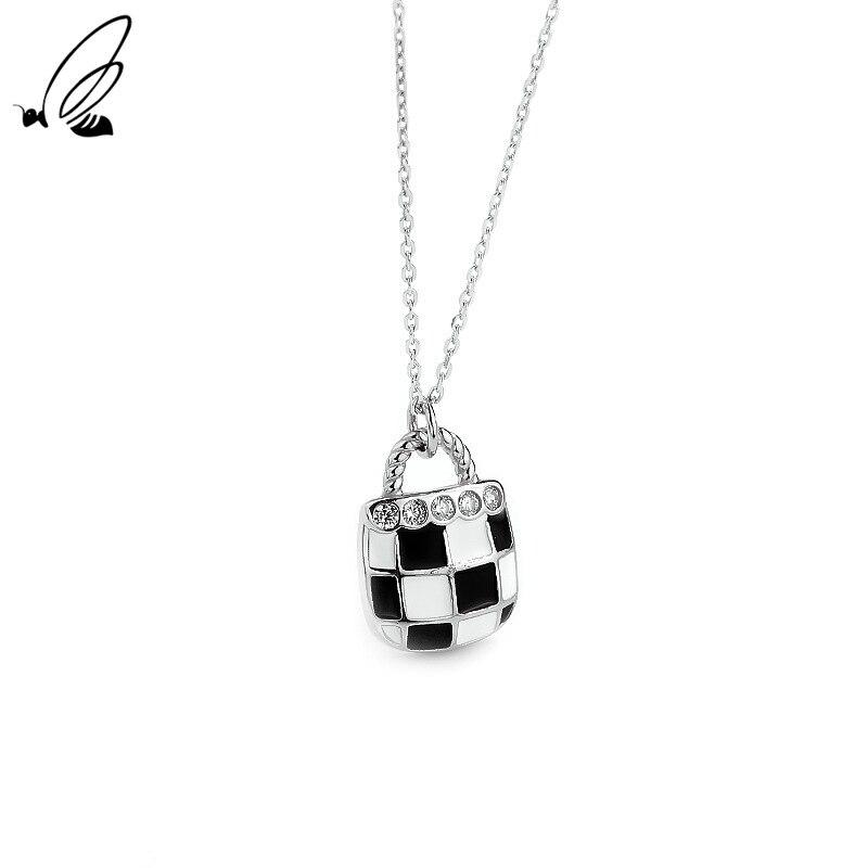 Цепочка-с-подвеской-в-виде-шахматной-доски-с-сумочкой-из-серебра-925-пробы
