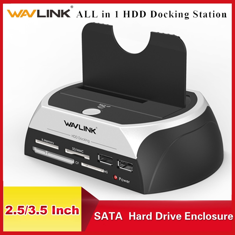 Wavlink All in 1 SATA HDD Docking Station Enclosure  External SATA Hard Drive Case For 2.5/3.5 inch HDD SSD Disk Case HD Box