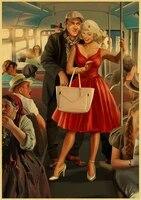 Affiche murale de style retro de la seconde guerre mondiale  peinture sur toile de haute qualite  art deco moderne  o511