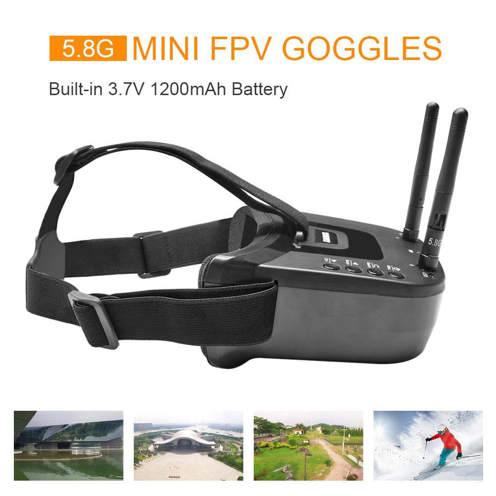 VR009 FPV نظارات 5.8G 40CH 3 بوصة نظارات نظارات فيديو سماعة لسباقات كوادكوبتر كاميرا بدون طيار وملحقاتها