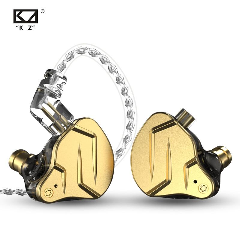 KZ ZSN Pro X سماعات أذن من المعدن 1BA + 1DD تقنية هجينة HIFI Bass سماعات داخل الأذن سماعات رياضية ضد الضوضاء