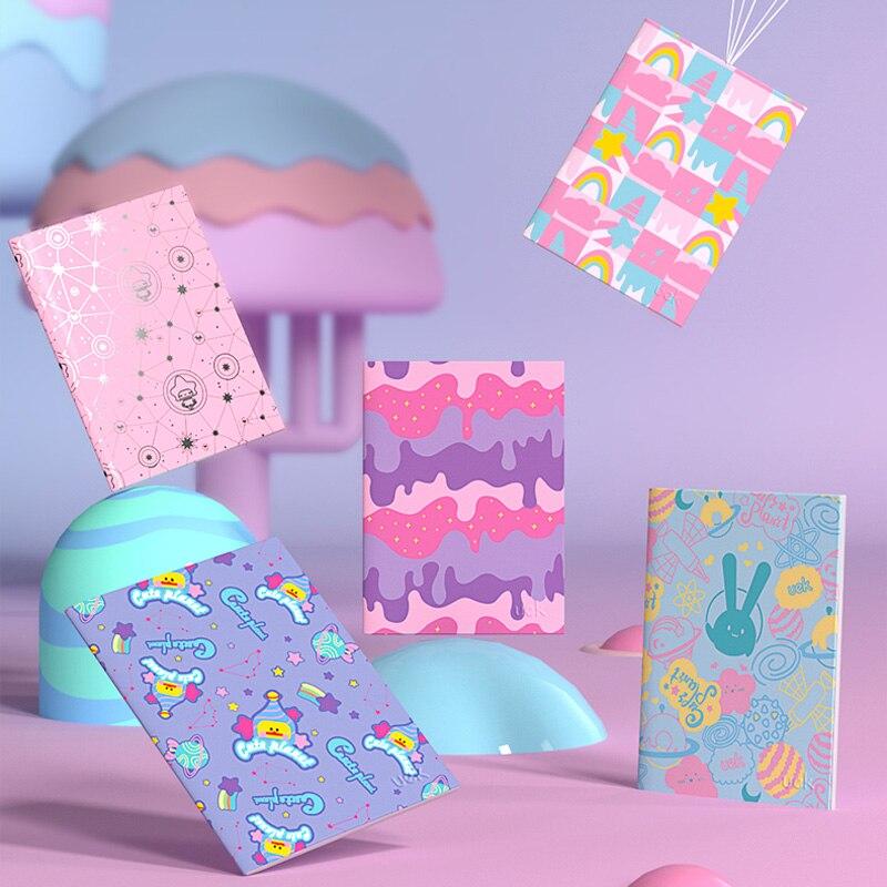 Cuaderno UEK A5, cuaderno de bolsillo, surtido de patrones, Bloc de notas, libro forrado de papel Kawaii, diario pequeño, Cuadernos para escribir, funda suave