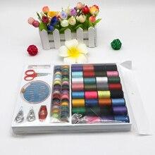 64 قطعة/المجموعة مكبات خيوط مجموعة أدوات خياطة عدة ألوان متنوعة للمنزل السفر