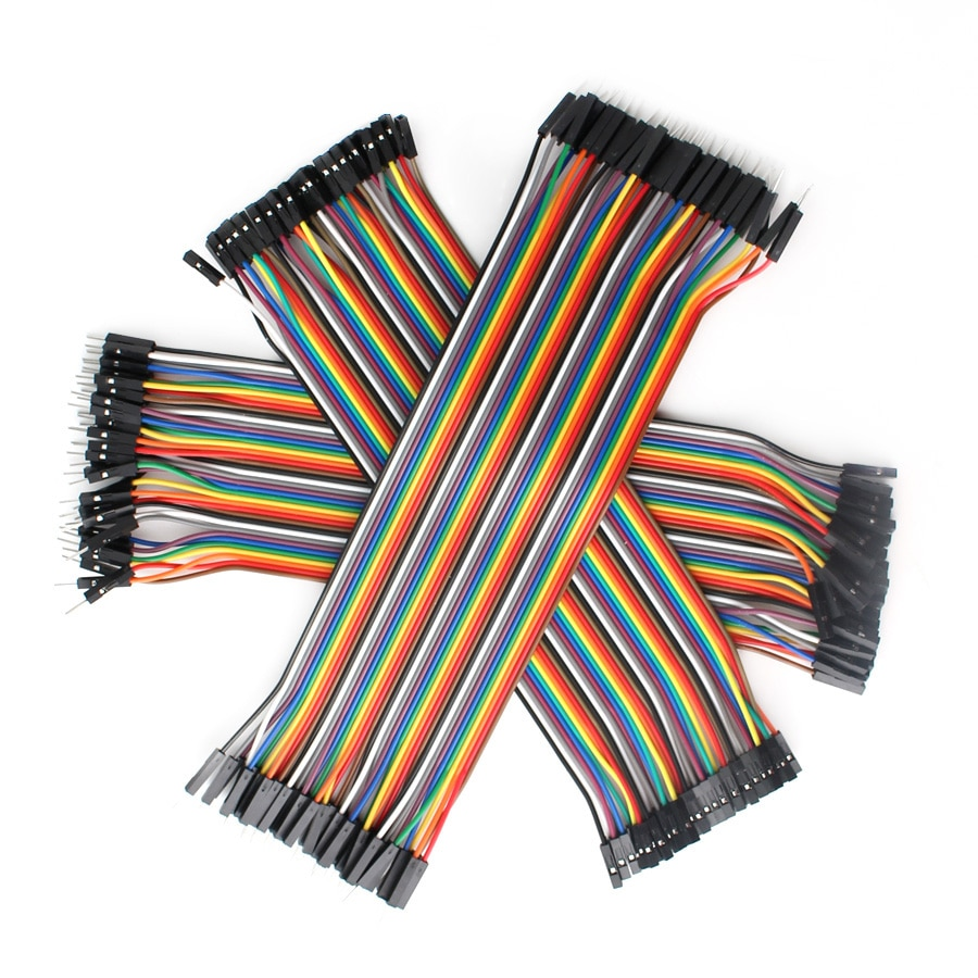 Cable Dupont,Jumper Wire Dupont,30CM Male to Male + Female to Male + Female to Female Jumper Copper Wire Dupont Cable DIY KIT