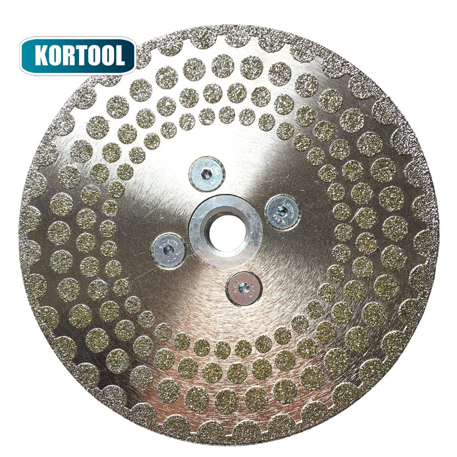 Electroplated Diamond Cutting Disc Grinding Wheel Both Side Coated Saw Blade for cuttting marble tile M14 Thread