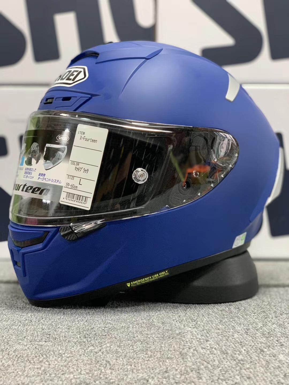 خوذة SHOEI X14 X-أربعة عشر ماركيز خوذة معدنية زرقاء غير لامعة خوذة سباقات الدراجات النارية تغطي الوجه بالكامل خوذة كاسكو دي موتوسيكل
