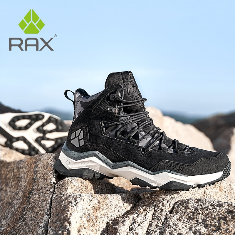 aleader winter warm men hiking trekking boots men outdoor walking shoes genuine leather climbing sneakers jogging shoes with fur RAX Men Hiking Shoes winter Waterproof Outdoor Sneaker Men Leather Trekking Boots Trail Camping Climbing  Sneakers leather shoes