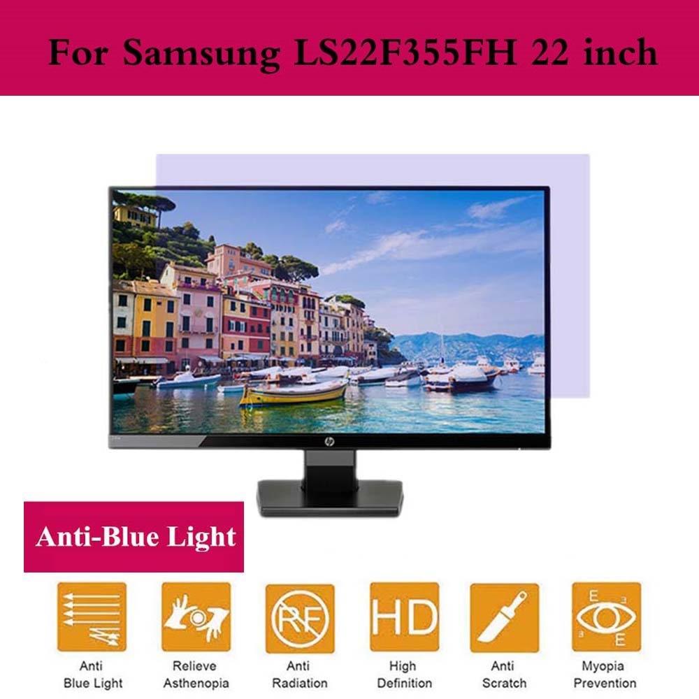 Para Samsung LS22F355FH 22 pulgadas [Ant Blue Light, antideslumbrante, bloques UV,Anti rayaduras Blue Light pantalla Filter film