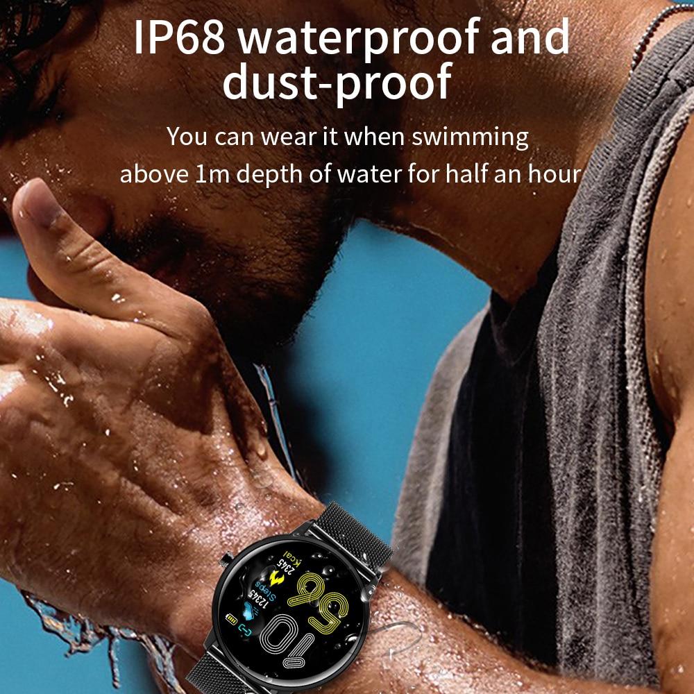 2020 Smart Watch Full Screen Touch Smart Watch Waterproof IP68 Bracelet Sport Fitness Sleep Monitor Smart Watch For Android iOS
