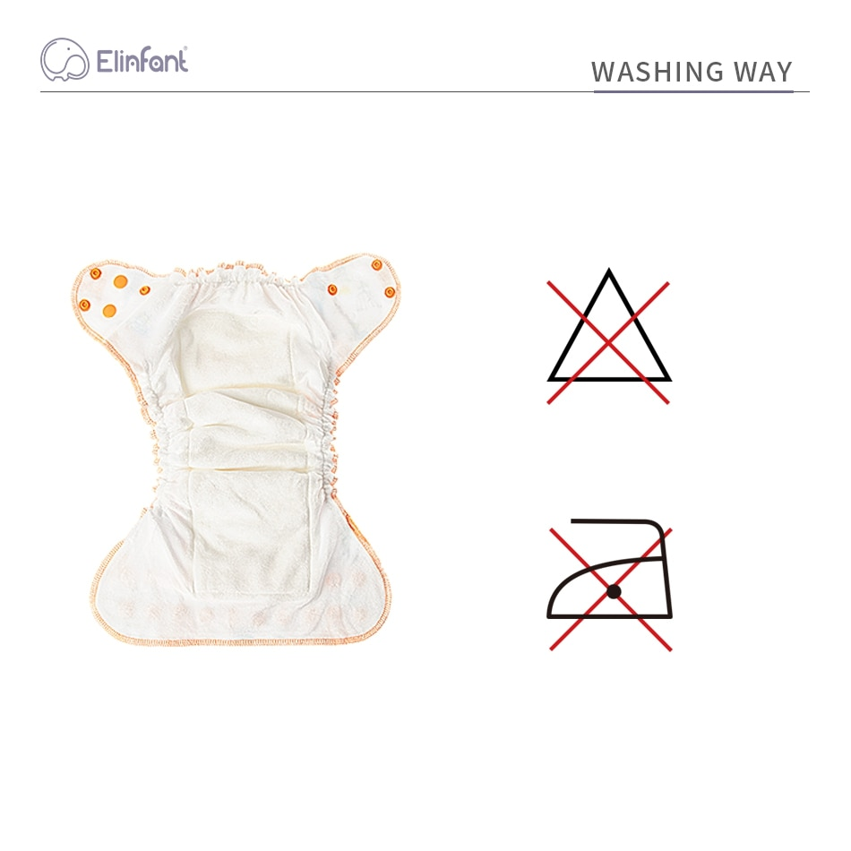 Elinfant 10pcs set Reusable Heavy Wetter Hybrid Fitted AIO/AI2 Waterproof Bamboo Velour Baby Cloth Diaper Drop Shipping enlarge