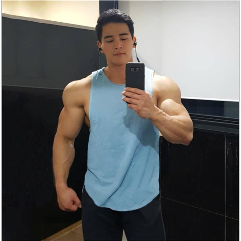 Camiseta interior de algodón para hombre, camisetas sin mangas de Fitness, chaleco...
