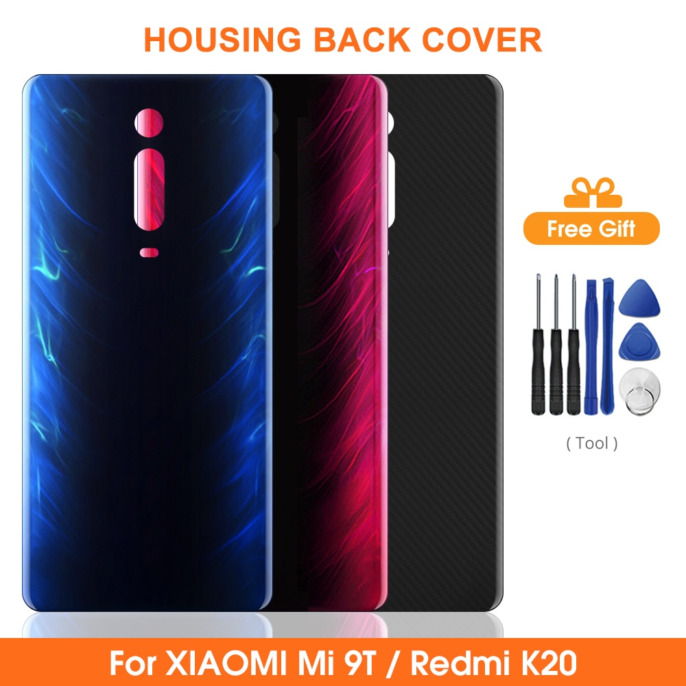 Крышка батареи для Redmi K20 K20Pro Задняя стеклянная дверь чехол для Xiaomi Mi9t Pro Задняя стеклянная Замена для Xiaomi Mi9t