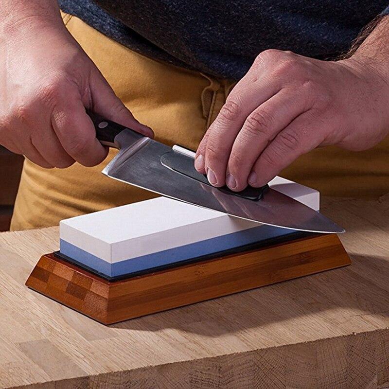 Profissional pedra de afiar dupla face corindo pedra de amolar mó premium faca cozinha afiador pedra ferramentas afiar