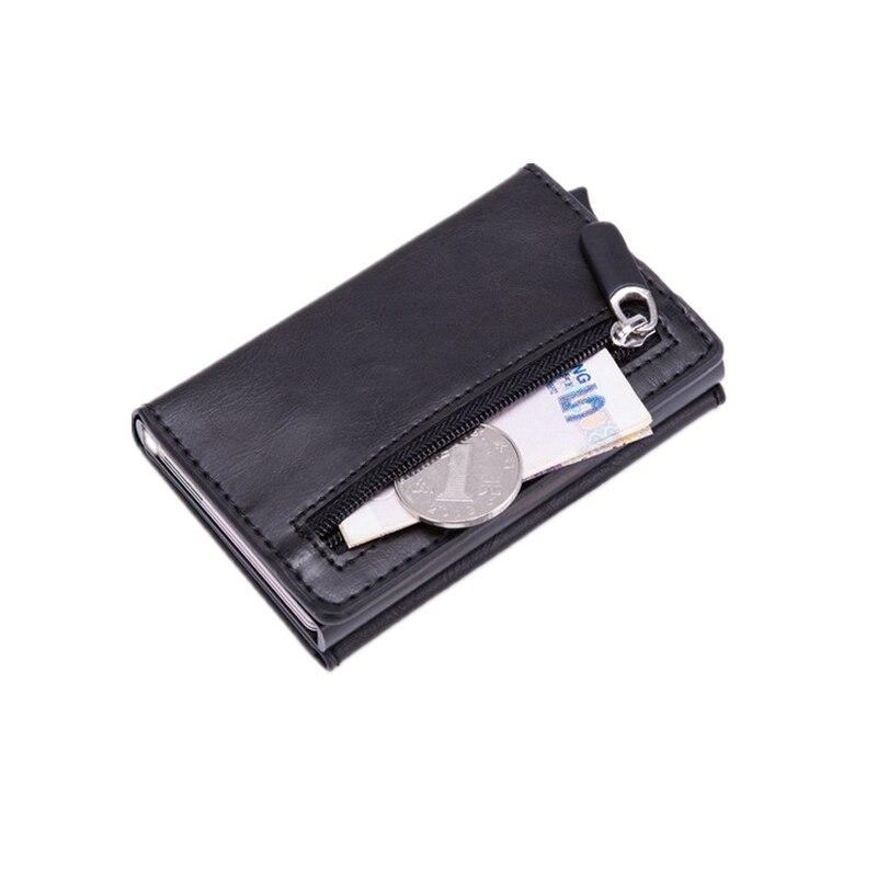 New Design Men Smart Wallet Rfid Aluminum Alloy Pop Up Classic Card Holder Male Purse Anti-theft Case