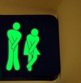 2 estilos removibles familia DIY lindo hombre mujer baño WC pared luminosa pegatina moderna