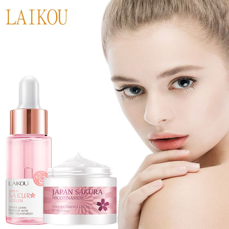 LAIKOU Hyaluronic Acid Moisturizer Face Serum Face Cream Nicotinamide Vitamin C Whitening Essence Shrink Pores Face Skin Care laikou hyaluronic acid face serum moisturizing shrink pores whitening brightening tighten facial essence liquidskin care 15ml