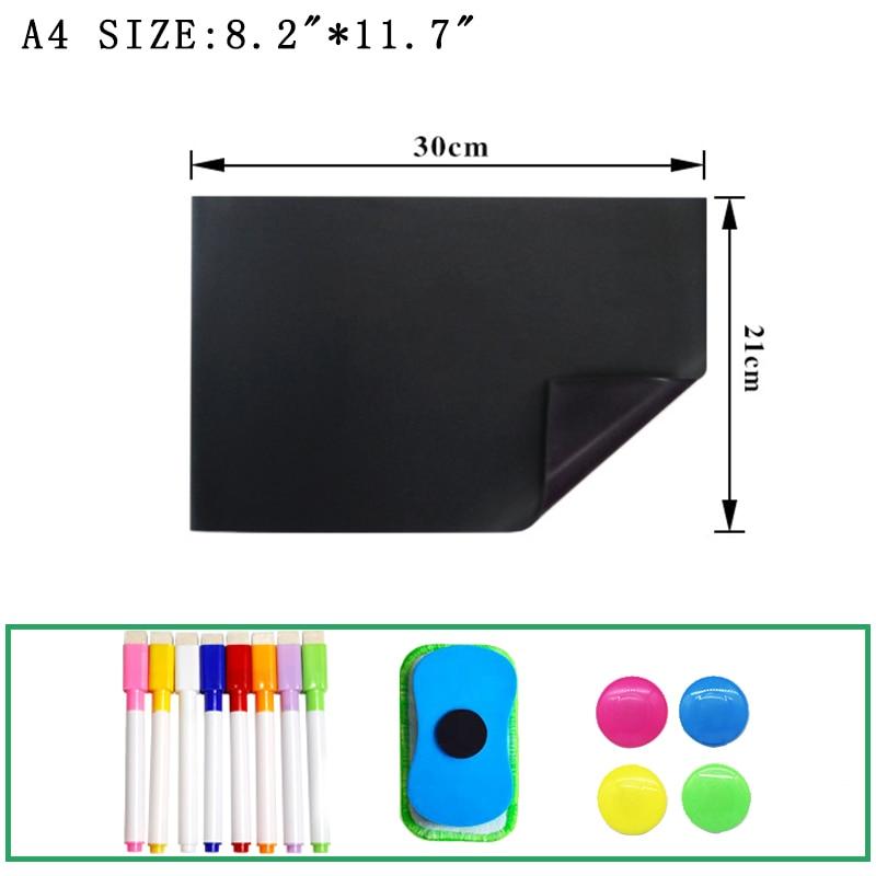Магнитная доска для письма сообщения список дел маленькая доска для стен детский маркер для кухни холодильника Наклейка знак ластик