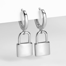 925 argent Sterling 2020 Vintage cadenas boucles doreilles minuscule cerceau boucles doreilles pour les femmes petit pendentif serrure boucles doreilles amour serrure bijoux