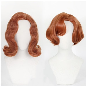 The Queen's Gambit Cosplay Wig TV Heroine Beth Harmon Wig Lovely Retro Beth Lady Curly Hair With Free Wig Cap