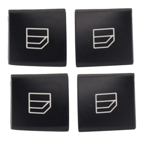4PCS Driver Window Switch Button Covers for Mercedes Benz C-Class W204 E-Class W212 GLK-Class