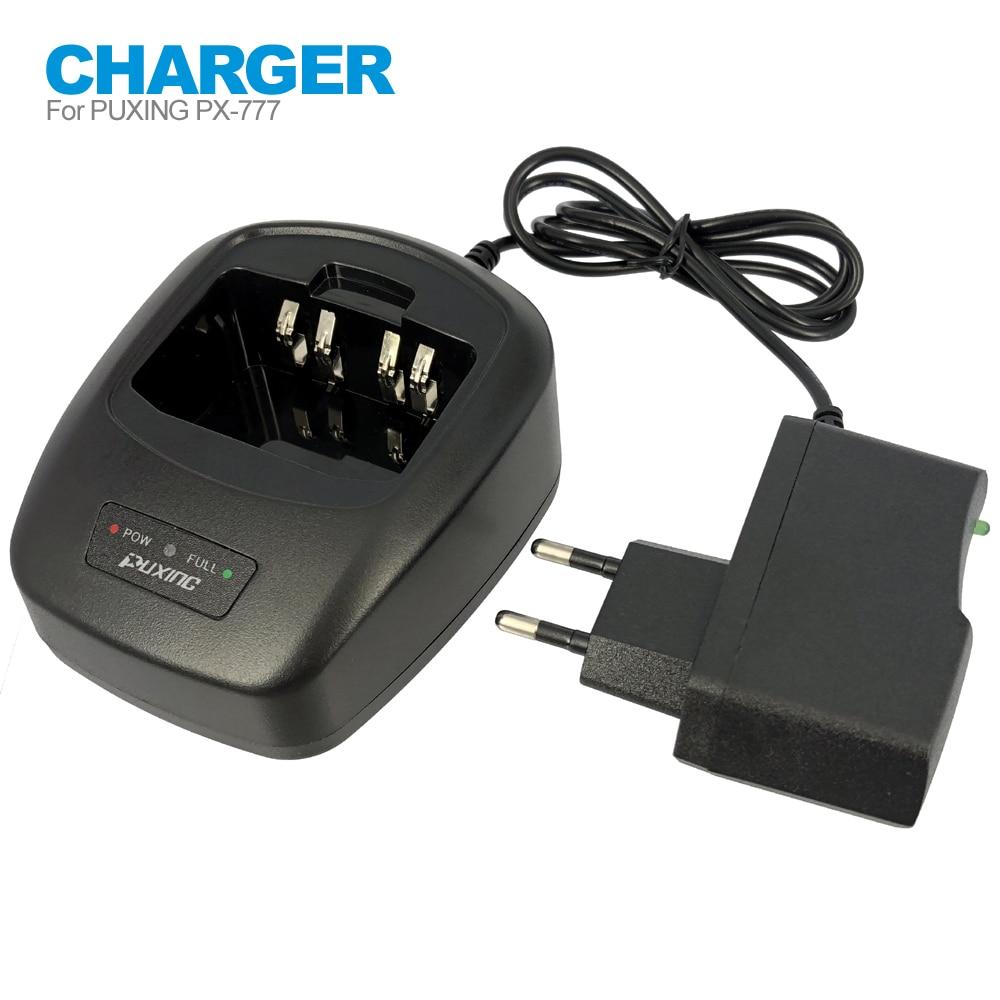 Настольное зарядное устройство, адаптер переменного тока для двухсторонней рации Puxing, с поддержкой стандарта ЕС/США, с функцией передачи да...