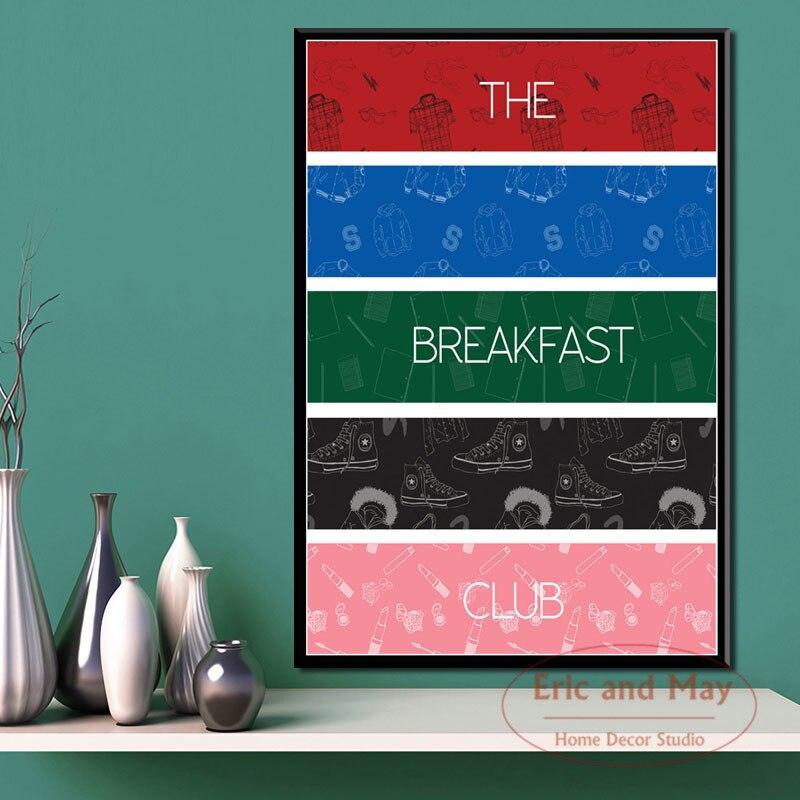 Pósteres e impresiones Retro Vintage del Club del desayuno cuadros de pintura en lienzo en la decoración clásica de la pared decoración del hogar Mesa