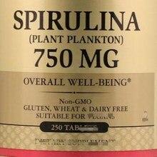 Spirulina, Regulating stomach and intestines,750 mg, 250 PCS