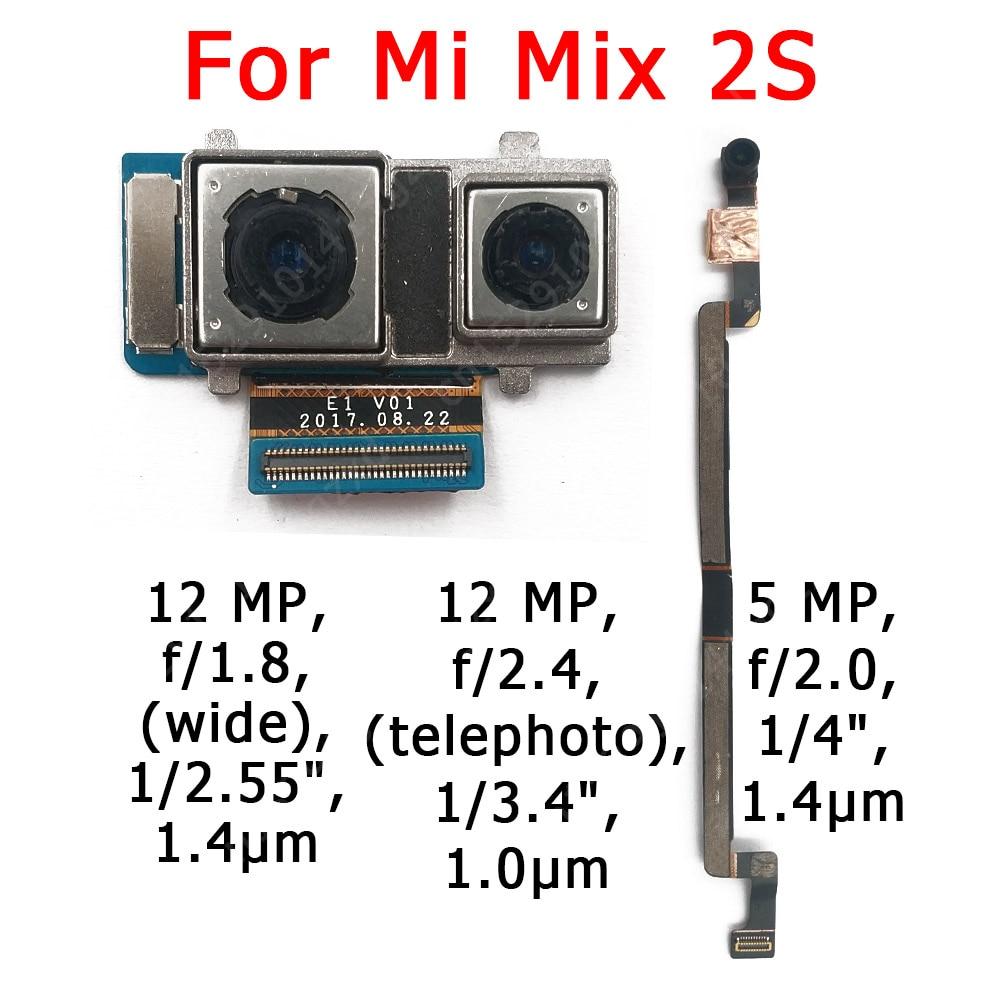 Original Front and Rear Back Camera For Xiaomi Mi Mix 2S Mix2S Main Facing Camera Module Flex Cable