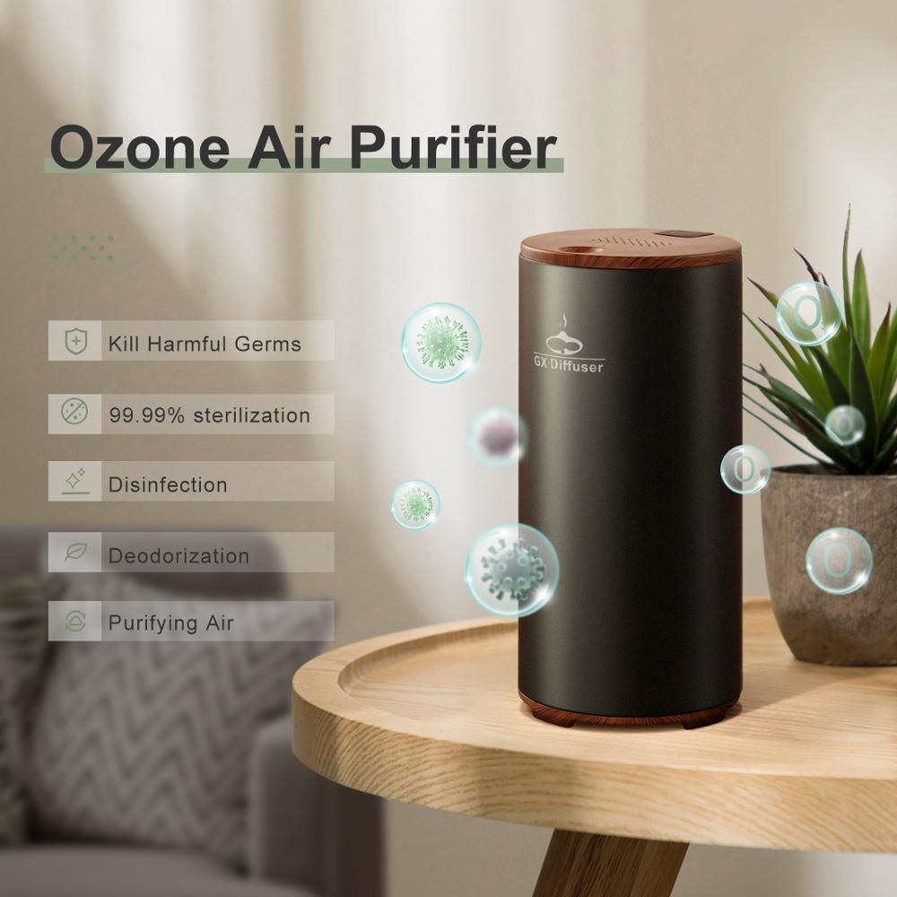 GX.Diffuser Ozone Air Purifier Formaldehyde Removing Car Deodorization Air Ionizer Rechargeable Ozon