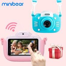 Minibear Kinder Kamera 3 zoll Touchscreen Kinder Digital Kamera Geschenk Für Kinder Jungen Mädchen 4K HD Video Camcorder kamera Spielzeug Geschenk
