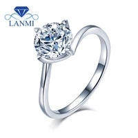 lanmi classic 925 sterling silver moissanite ring women d color 0 5 carat natural fine moissanite jewelry party gifts wholesale