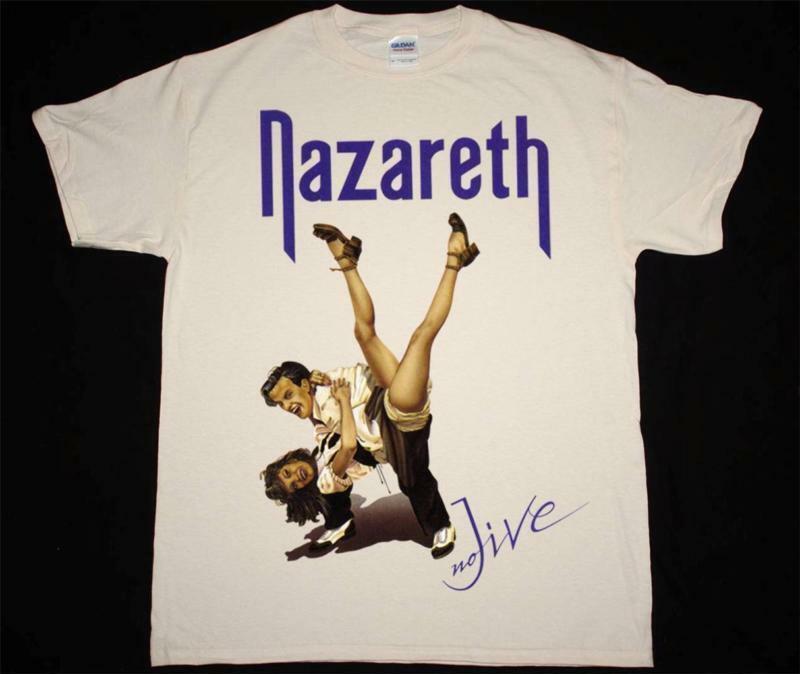 Nazaret NO JIVE NATURAL T camisa ROCK duro URIAH HEEP SLADE OVNI profundo púrpura Camiseta de manga corta