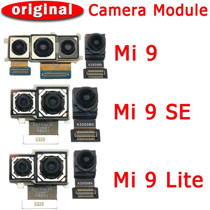 Original Front and Rear Back Camera For Xiaomi Mi 9 Mi9 SE Lite 9SE Main Facing Camera Module Flex Cable Replacement Spare Parts