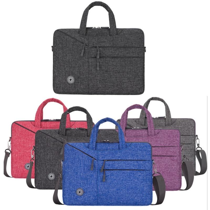 13/14/15.6 inch laptop bag men's shoulder bag waterproof multi-slot pocket messenger bag fashion briefcase business man Mochila