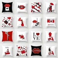 new pattern leisure time red cartoon valentines day pillow cover festival home furnishing sofa pillow cover cushion cover