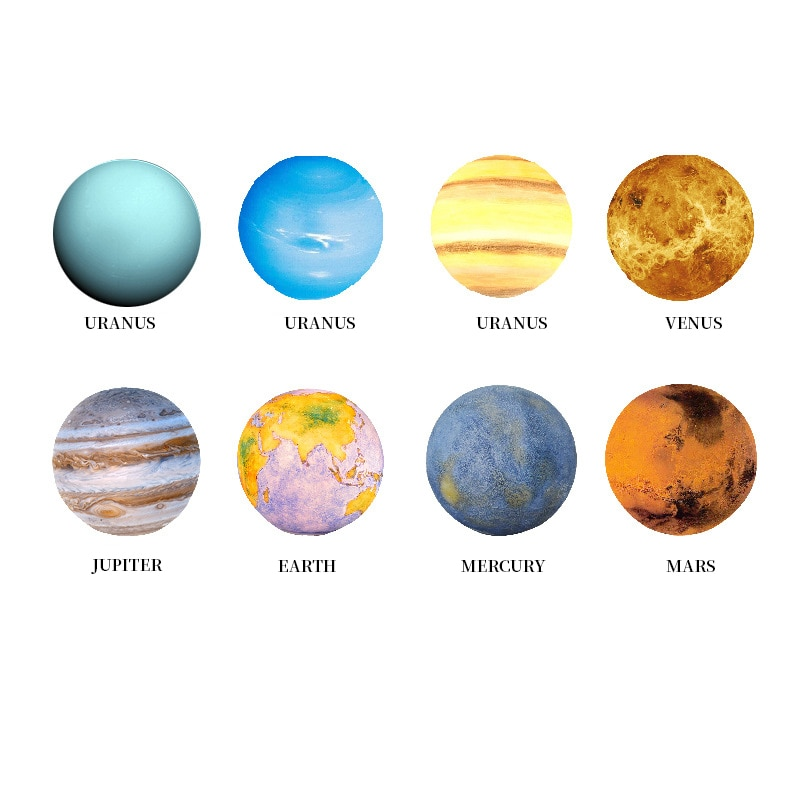 8 pcs/set  Moon Globe 3D print moon lamp touch control 3 colors night light creative gift family bedroom decoration children enlarge