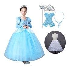 Robe fantaisie princesse cendrillon pour filles   Tenue Tutu, Costume Cosplay dhalloween, vêtements de fête de noël, cadeau danniversaire pour enfants