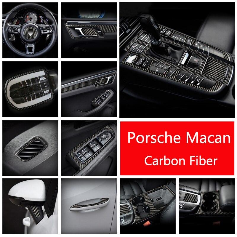 Altavoz para puerta interior de coche, Panel Gearshift, cubierta de reposabrazos para puerta, adhesivos embellecedores para Porsche Macan 2014-2020, accesorios para automóvil