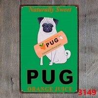 Panneau metallique retro  carlin naturel doux  decor de Bar  Pub  maison  Vintage  grand  12x8  12x6 pouces