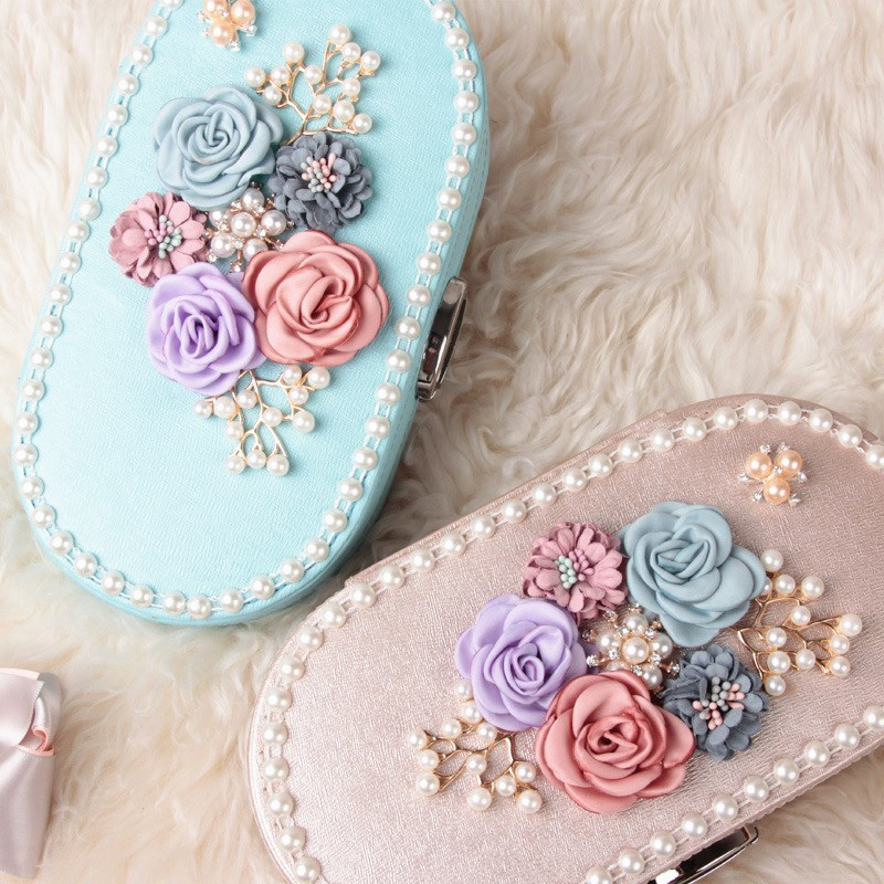 HOSENG PU Leather Necklace Bracelets Jewelry Box With Metal Lock Women Elegant Earrings Rings Storage Case Birthday Gift HS_903