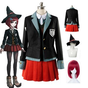 Anime Danganronpa Cosplay Yumeno Himiko uniform Halloween Party Man Woman Japanese cosplay costumes coat/shirt/vest/skirt/hat
