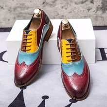 Fashion Men Brogue Shoes Big Size 47 48 Wedding Party Leather Shoes Men Lace Up Pointed Toe Dress Sh